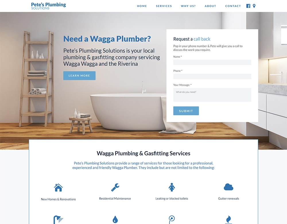 Petes Plumbing Solutions - Wagga Web Design